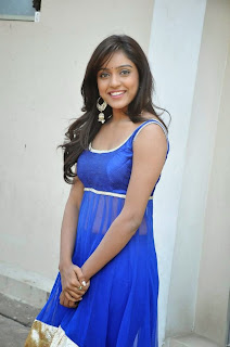 Actress Vithika Sheru Latest Pictures in Blue Salwar Kameez at Paddanandi Premalo Mari Movie First Look Launch 10