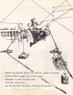 Andrew Henry's elaborate pulley system