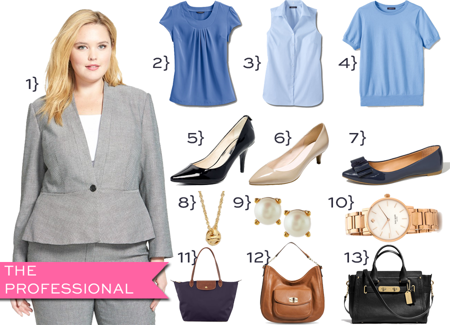 Plus size outfit for job interview