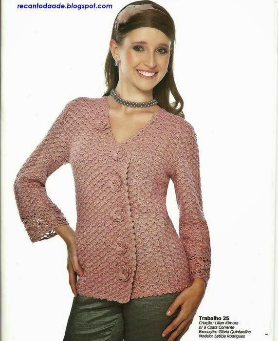Patrones de saco de dama al crochet
