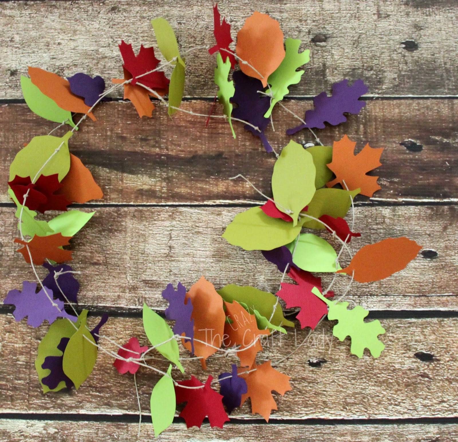 Fall paper leaves garland