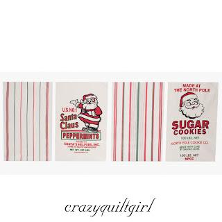 Moda Santa Flour Sack Kitchen Dish Towels Set