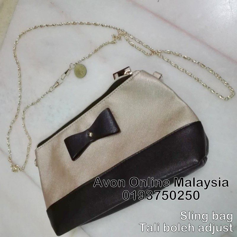 Black Gold Sling Bag