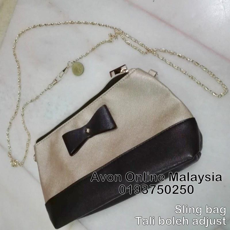 Black Gold Sling Bag