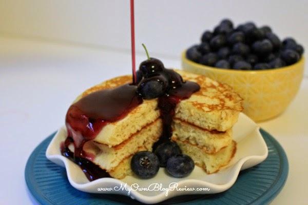 Lemon Pancakes with Blueberry Syrup using Greek Yogurt on www.MyOwnBlogReview.com #PriceChopperB2S #CollectiveBias