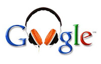 Google logo with headphones from Music 3.0 blog