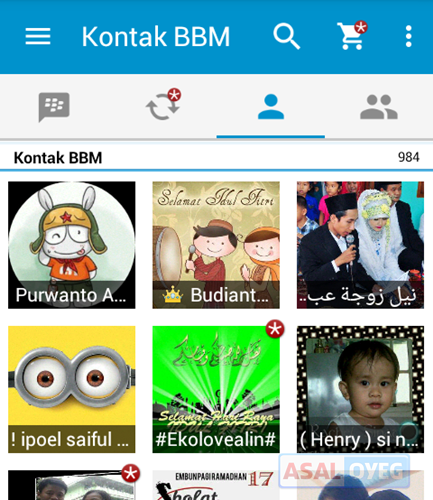 Kontak BBM for Android
