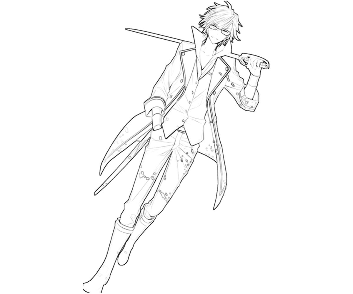 printable-saruhiko-fushimi-sword-coloring-pages