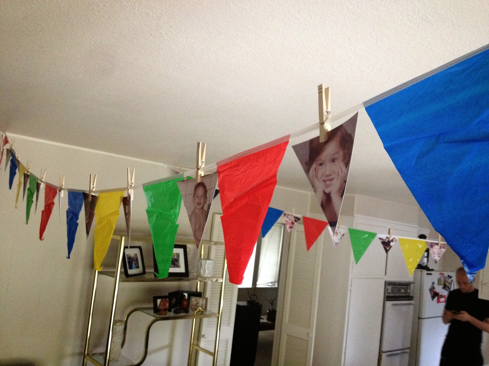 diy photo pennant banner for birthday party
