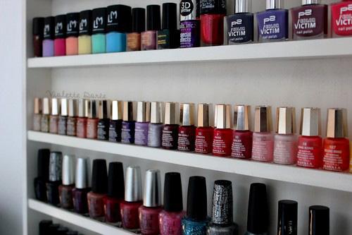 Violette dor e blog nail art beaut do it yourself une - Etagere murale pour vernis a ongle ...