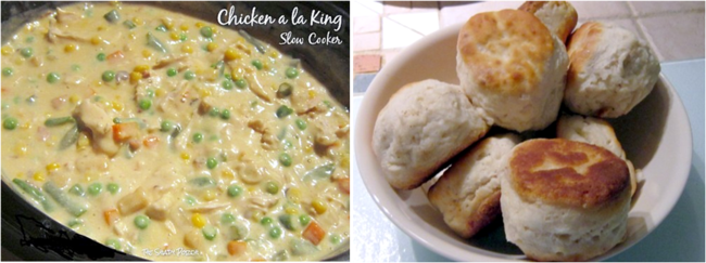 Creamed Chicken a la King with Biscuits