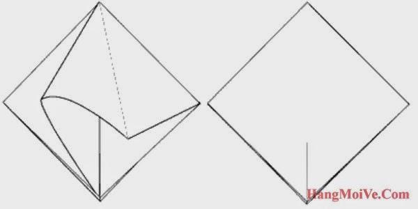 Bước 4: Làm tương tự với lớp giấy phía sau ta sẽ được như hình 2 bên dưới.