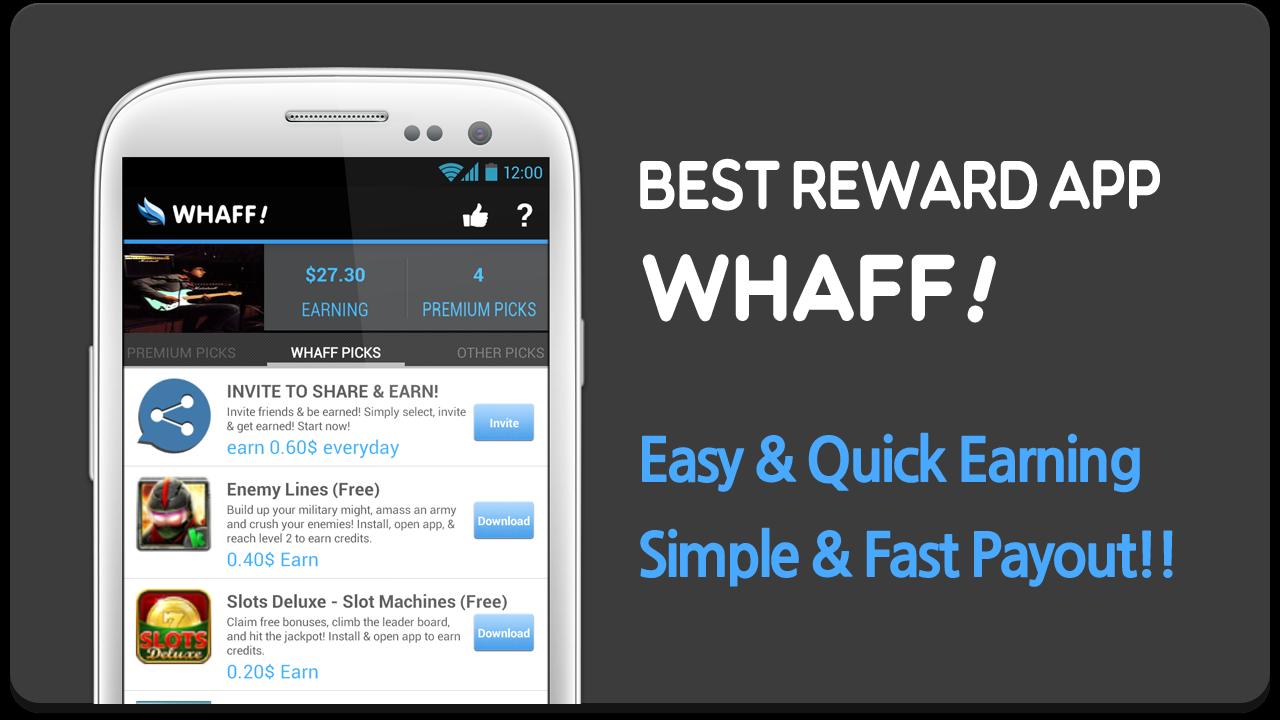 Cara Mudah Mencari Dollar Dari Android Dengan WHAFF (Gratis 100%)