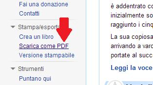 opzione scarica come pdf