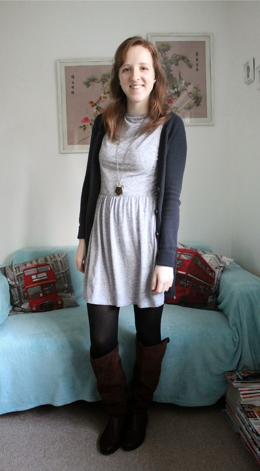 OOTD: A New Look Dress and H&M Knee High Boots