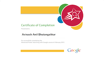 Advance Google Power Search Certification