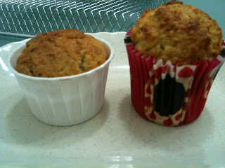 two recipes of banana muffin