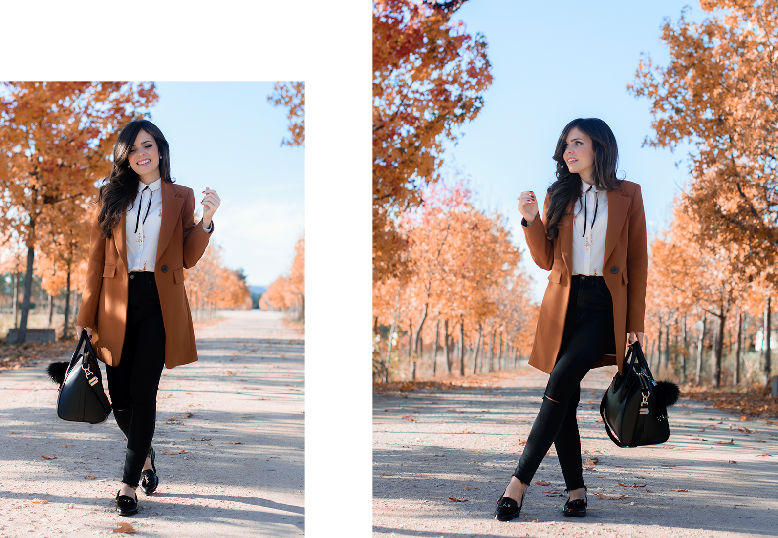 Total look de Zara con Blazer y jeans de cintura alta