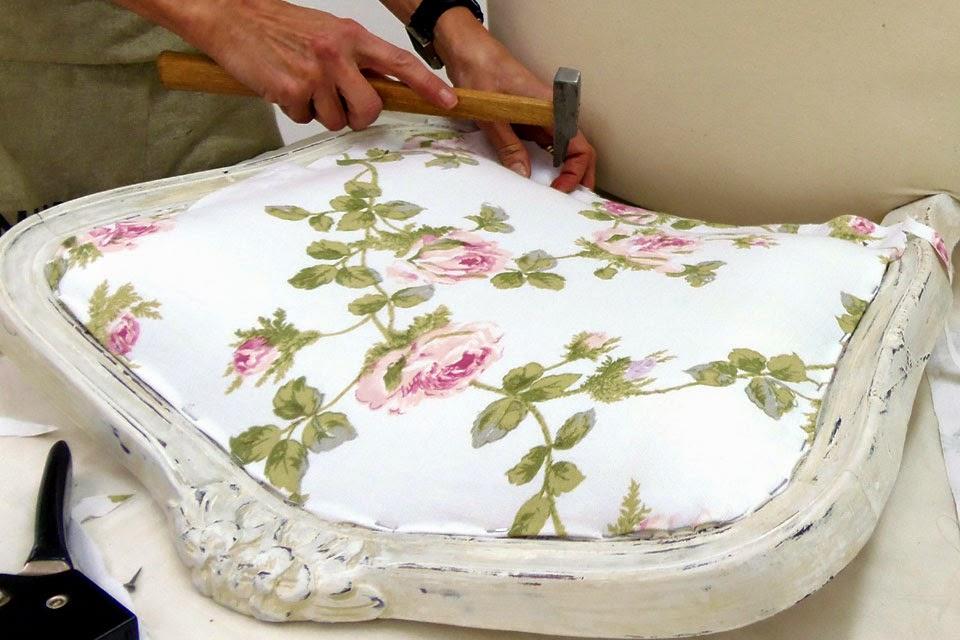 Cuchita bacana talleres de reciclado de muebles y - Materiales para tapizar una silla ...