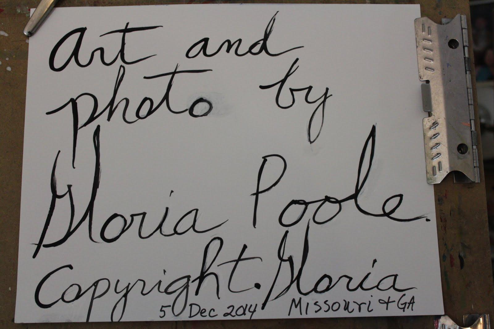 Copyright Notice of Gloria Poole of Missouri and Georgia