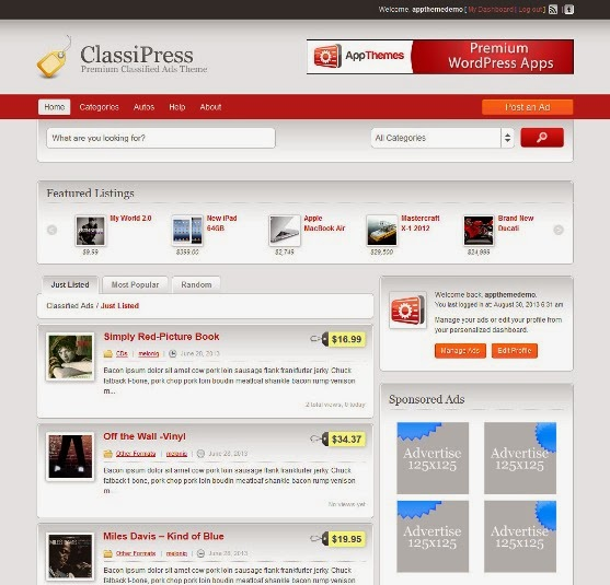 ClassiPress - Classified Ads Theme for WordPress