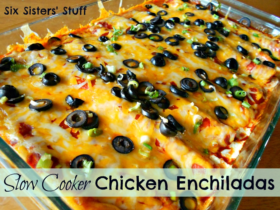 Slow Cooker Chicken Enchiladas | Six Sisters' Stuff