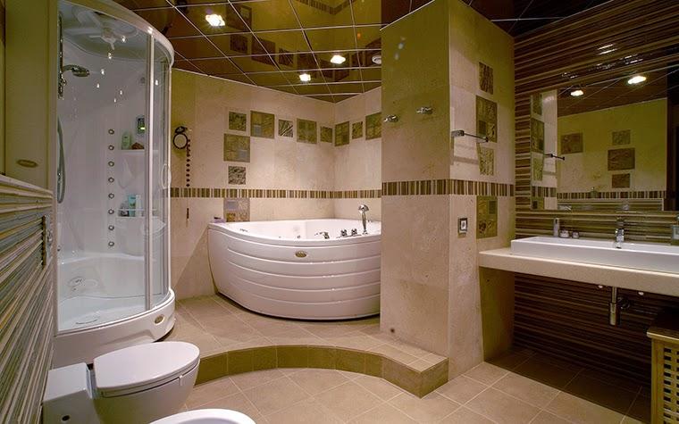 decorative corner bath for small bathroom design