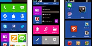 tampilan Nokia X