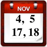 November mandatory class dates have changed!