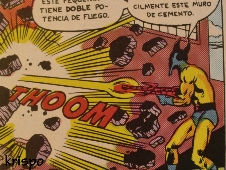 villano disparando en comic