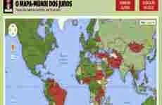 Las tasas de interés de los bancos centrales de todo el mundo, en un mapa de Google Maps