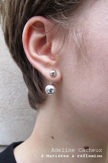 Boucles perles argent Adeline Cacheux
