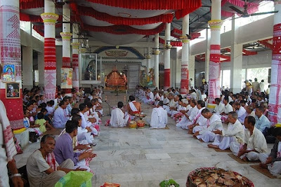 Naam Kirtana and a gathering at a Naamghar, Assam