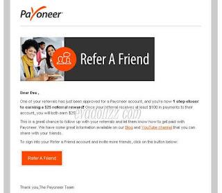 Payoneer: Isi Saldo Payoneer Dengan Referal