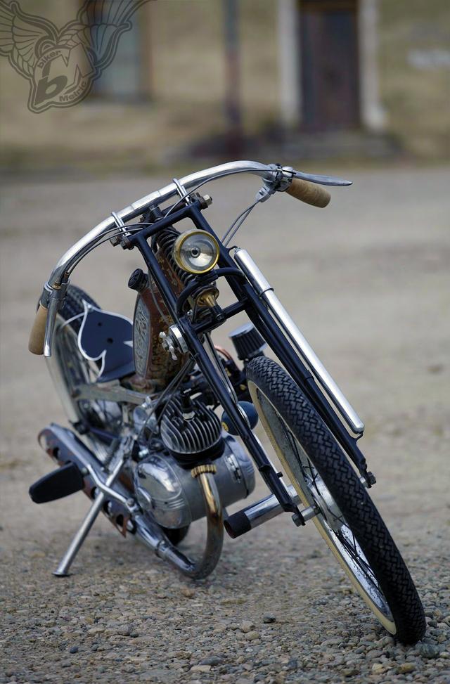 malaguti 50cc moped with motobecane frame chopper | frenchmonkeys