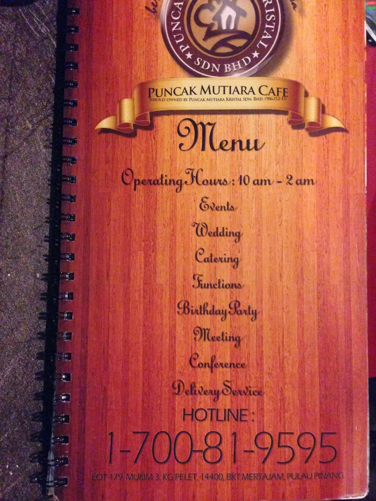 Puncak Mutiara Cafe Info