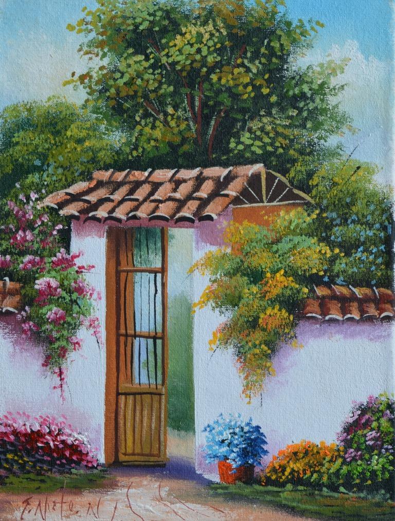 Im genes arte pinturas paisajes costumbristas colombianos - Pintar en lienzo para principiantes ...
