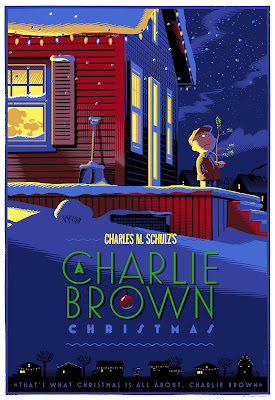 A Charlie Brown Christmas Standard Edition Screen Print by Laurent Durieux