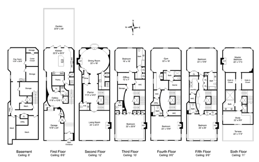 Stunning 23 images victorian townhouse floor plan home for Victorian townhouse plans