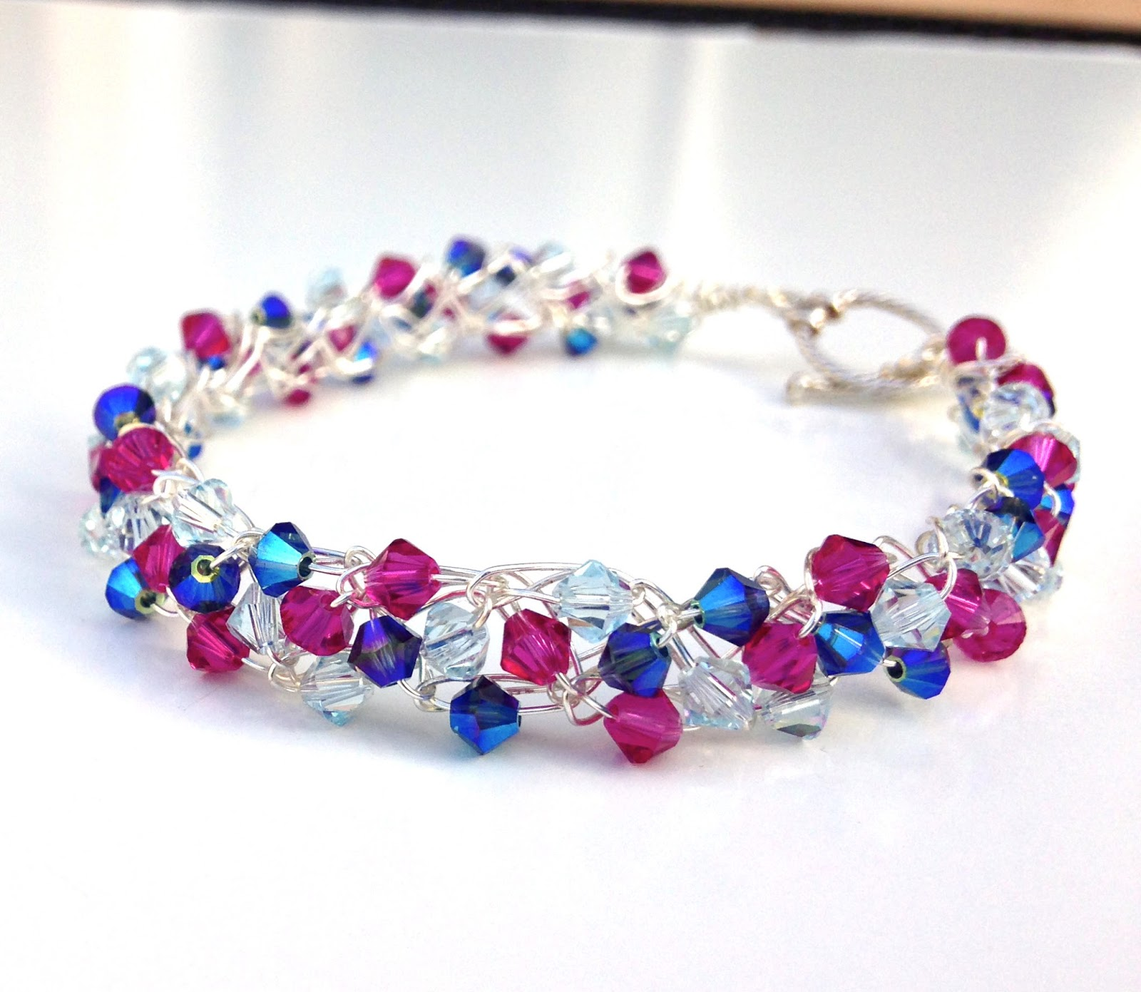 Electric Wire Crochet Crystal Bracelet