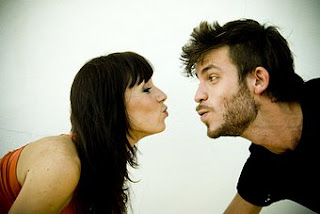 Funny Kissing Couple