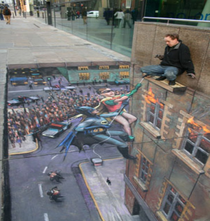 Incredible paintings julian beever pavement 3d art - Arte en el piso 3d ...