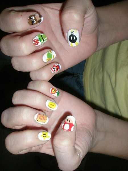 Gorro Super Mario And Friends Games Nail Designs