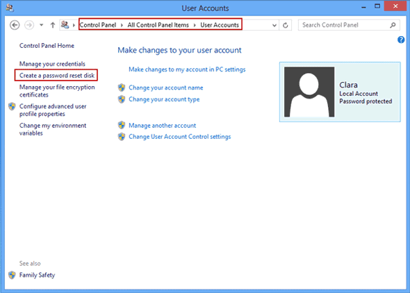 create windows 8 or 8.1 password reset disk