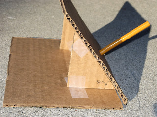 how to make a sundial out of cardboard
