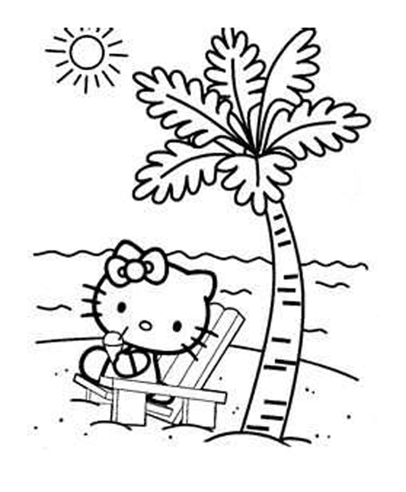 8 Very Pretty Disney Hello Kitty Cartoon Coloring Pages