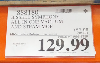Deal for the Bissell Symphony All-In-One Vacuum and Steam Mop at Costco
