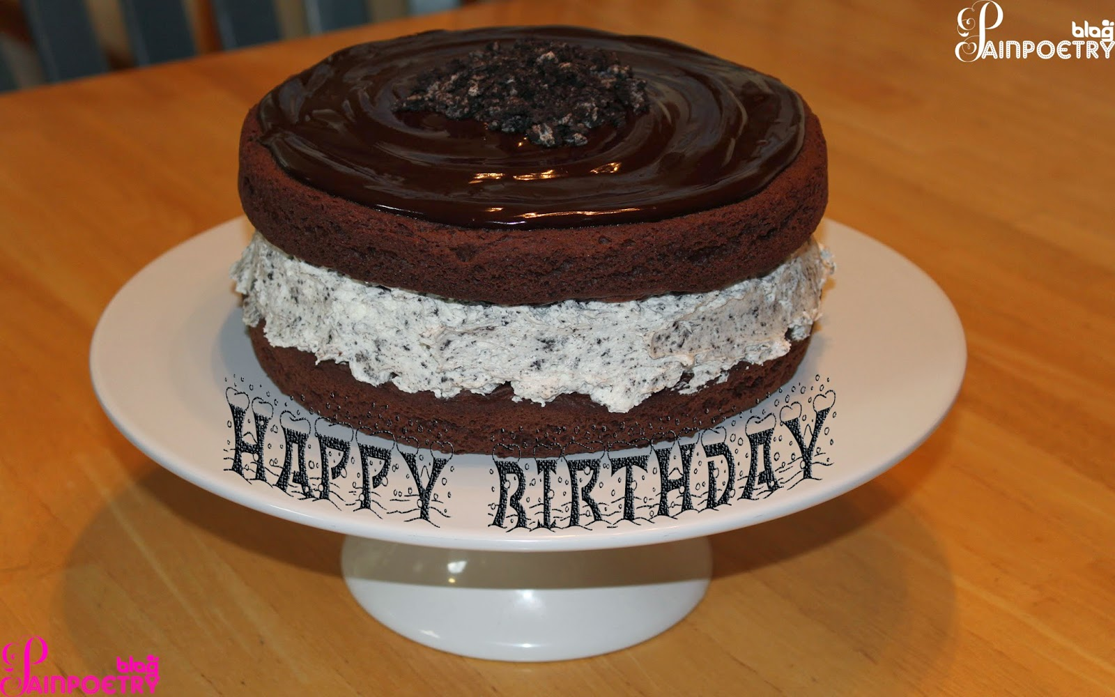 Happy-Birthday-Wishes-Image-Photo-Cocolate-Cake-On-The-Plate-HD-Wide