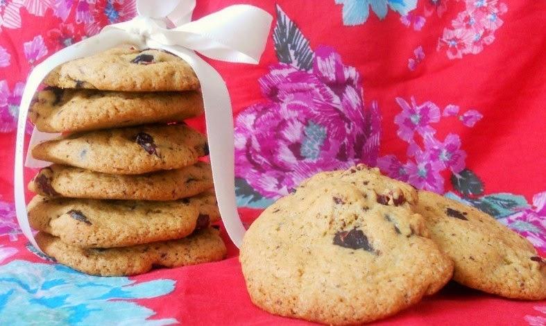 cookie chocolat noir cranberries