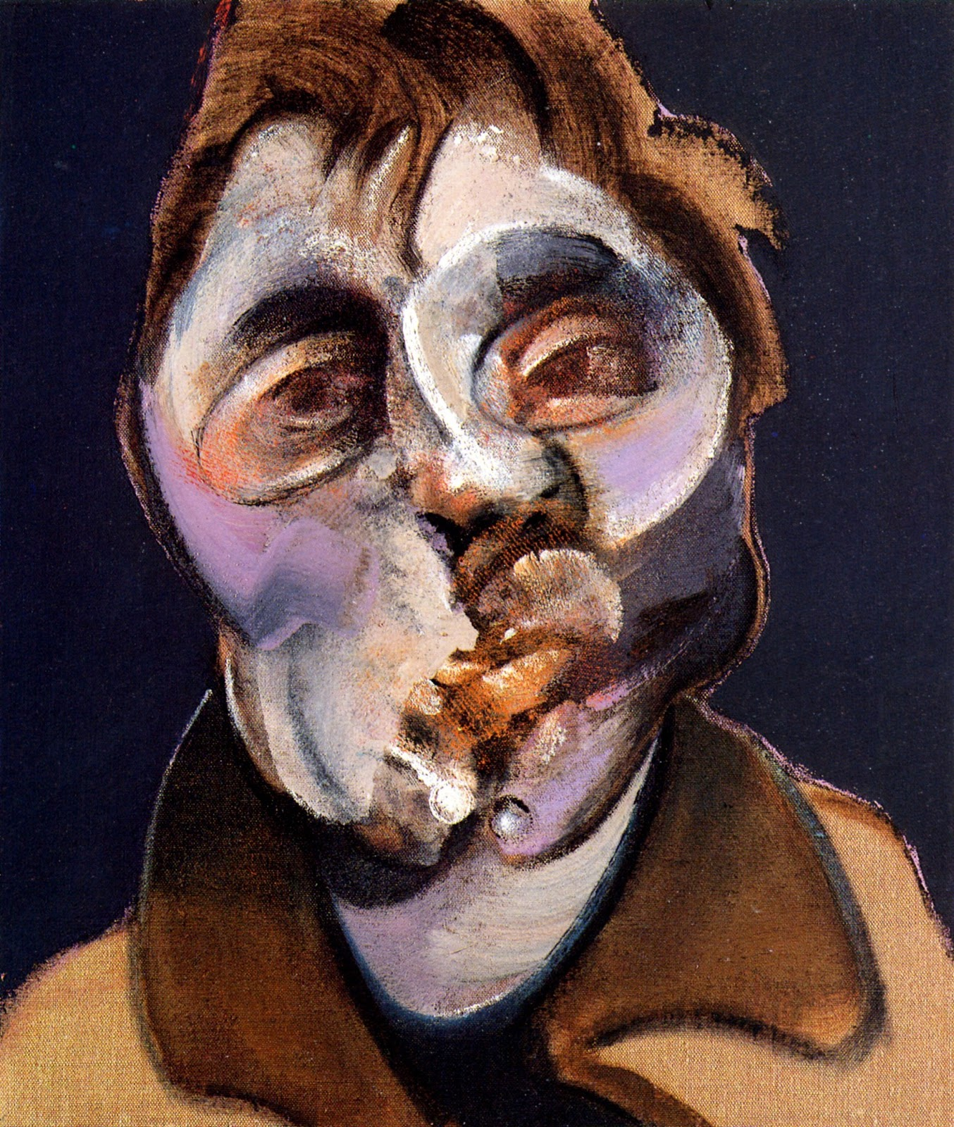 francis bacon the portraits Artwork page for 'study for a portrait', francis bacon, 1952 francis bacon painted directly onto the raw, unprimed side of the canvas and here emphasised the texture further by rubbing sand into the paint.